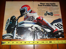 1982 HONDA CB900F FREDDIE SPENCER SUPERBIKE - ORIGINAL 2 PAGE AD