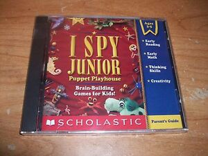 I Spy Junior Puppet Playhouse CD ROM Early Reading Math Skills Kids Ages 3-5 NEW