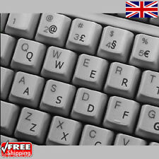Portuguese Traditional Transparent Keyboard Stickers With Black Letters