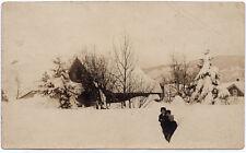1906-1915 Cle Elum Washington WA The Big Snow Connell CYKO Real Photo Postcard