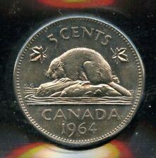 1964 Extra Waterlines Canada 5 Cents Nickel Coin - ICCS MS-62 Cert#EN862
