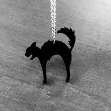 Necklace Collier Curiology Hell Cat Black Chat Noir Dark Gothic Gothique