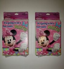 Hallmark Disney Clubhouse Minnie Mouse |8 Party Invitations & 8 Thank You Cards
