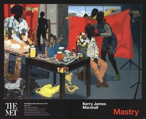 KERRY JAMES MARSHALL Mastry 26.5 x 32.75 Poster 2016 Contemporary Multicolor
