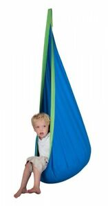 SENSORY ROOM QUIET DEN HANGING CHAIR BLUE AUTISM ASPERGES ADHD RELAX CHILL MOOD