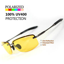 NEW SPORT WRAP HD NIGHT DRIVING YELLOW VISION SUNGLASSES HIGH DEFINITION GLASSES