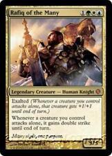 RAFIQ OF THE MANY Shards of Alara MTG Gold Creature — Human Knight MYTHIC RARE