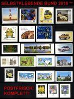 2018sk] BRD / BUND selbstklebende Briefmarken 2018 postfrisch komplett