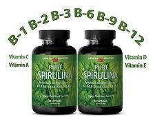 SPIRULINA Powder 100% Plant-Based Dietary Supplement (2 Bottles)