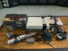 Nintendo Original NES Console System Console W/ Controllers And 16 Games