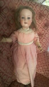 """Happy 21"""" Armand Marseilles 390 Bisque Head Antique Doll with Voice Working 1909"""