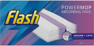 Flash Power Mop Absorbing Pads (16 Refills per pack) **NEW