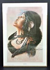 Michael Scovel Wind Kiss 1979 Signed Print Indian Native Tribal Art Picture