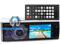 "SOUNDSTREAM VR345XB 3.4"" TV CD DVD BLUETOOTH USB 300W CAR STEREO SIRIUS XM READY"