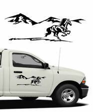 "Horse Decal Truck Trailer Car Side Body Camper 24"" RHSB"