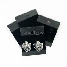 100Pcs Black Velvet Earring Hanging Holder Jewelry Display Cardboard Hang Cards