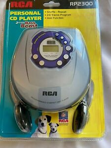 New Sealed RCA RP-2300 Portable CD Player Bass Boost Walkman Discman