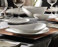 6x Bormioli Rocco Brilliant White Prometeo Oval Shaped salad soup Dinner plates
