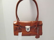 Brown Leatherette Doctor Bag Purse, NWT