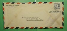 DR WHO CURACAO NETHERLANDS AIRMAIL TO USA WWII CENSORED  g11061