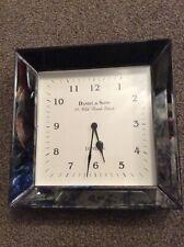 BNIB Pacific Lifestyle Antique Silver Square Wall Clock