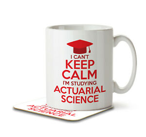 I Can't Keep Calm I'm Studying Actuarial Science - Mug and Coaster by Inky Pe...