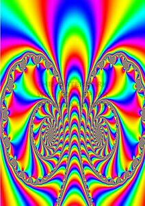 """Poster. """"Hippy Trippy"""". #12. Professionally printed."""