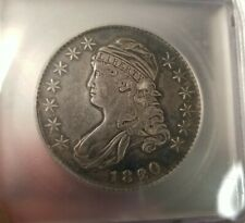 1820/19 Overdate Capped Bust Silver Half Dollar VF 35 ICG O-102 Cleaned