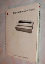 APPLE  - IMAGEWRITER II - Image Writer 2 - GUIDE COLLECTOR  1986 TRES BON ETAT