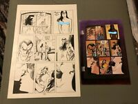 Dracula Blood of Innocent #1 original art + color guide MAKES LOVE to BLACK MARY