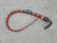 3 Feet Long 12 Plait Genuine Kangaroo Leather Signal whip Snake Flogger Bullwhip