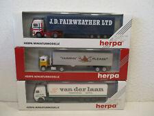 ( K3 Herpa 1:87 3 X Truck New Boxed H0 Gauge