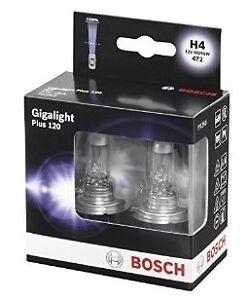 OFERTA Bombillas Bosch Gigalight Plus 120 H4 Lámparas 120% + Luz Lámparas