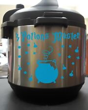 Potions Master Wizard Cauldron Light Blue Vinyl Decal Sticker for Instant Pot