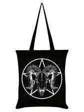 Tote Bag Ram Skull Pentagram Black 38x42cm