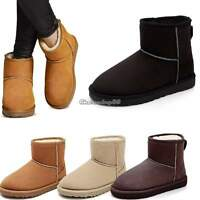 Womens Winter Warm Thick Ankle Snow Boots Shoes Fur Lined Flat Shoes UK Size 3-7