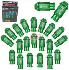 GREEN 20 Pieces D1SPEC Light Weight Billet Racing Wheel Lug Nut Nuts M12x1.5