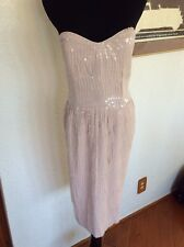 French Connection Peach Sequin Dress Size 6