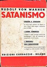 SATANISMO - Rudolf Von Warhen - CORBACCIO 1932