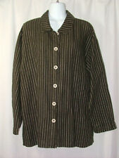 Habitat Clothes To Live In Brown Blouse Top Shirt Jacket Long Sleeve Size M