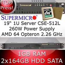 1u/1he Supermicro Server * AMD Opteron 64 2.26 GHz * 1gb di RAM * 2 x 164gb HDD