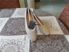 New Zara Natural Color Woven Flats Size 38M