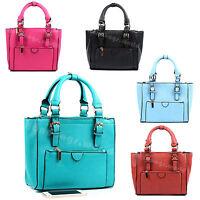 Ladies Designer Faux Leather Cross Body Bag Women Shoulder Shopper Tote Bags