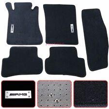 For 01-07 Mercedes-Benz W203 C-Class Floor Mats Carpet Nylon Black 5PC w/ Emblem