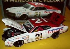 David Pearson 1971 Mercury Cyclone #21 Wood Brothers Purolator 1/24 Legends New
