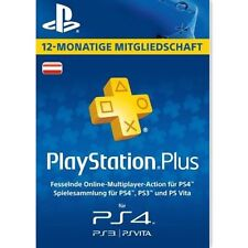 AT Playstation Plus 365 Tage ( 1 Jahr ) Karte Card Sony PSN Live Code PS+ Key
