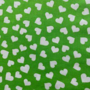"Hearts Print Fabric 58""W100% Craft Cotton FQ Half Metre or Metre for Scrub Bags"