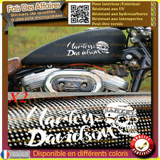 sticker autocollant harley davidson sportster skull iron sticker reservoir moto