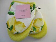 2 Kate Spade New York Make Lemonade Mini Oven Mitts Lemons Yellow White Cotton
