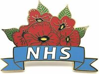 2020 UK STOCK Thank You NHS SUPPORT Red Poppy Crown Pin Badge PATCH DOCTOR GIFT